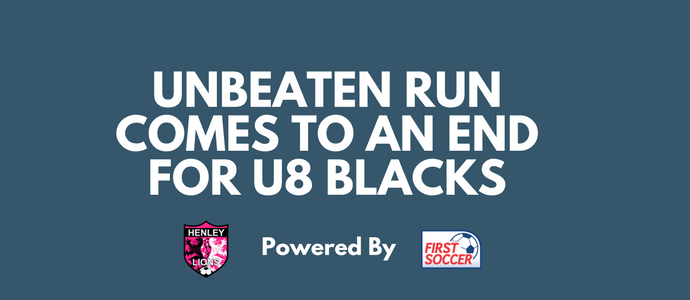 Unbeaten Run Comes to an End For U8 Blacks