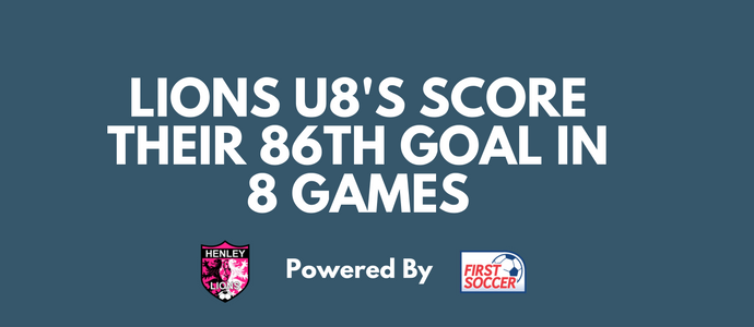Henley Lions U8's Score 86 Goals So Far